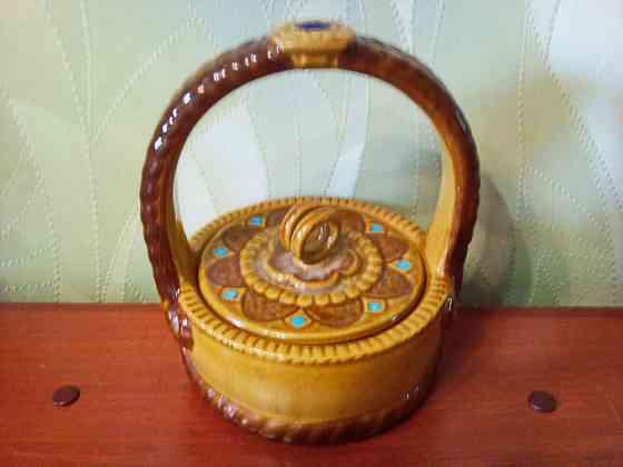 Лукошко из керамики для хранения мелочей Самара