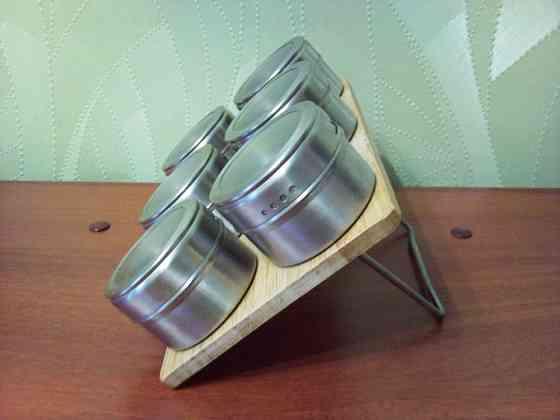 Набор баночек для специй на подставке Самара
