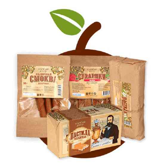 Производство и продажа яблочной пастилы, сухариков, смоквы Белев