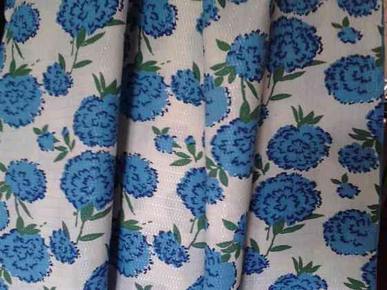Х/б ткань с шелковой декоративной ниткой. СССР Санкт-Петербург