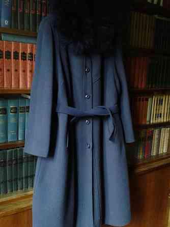 Дамское английское утепленное пальто 54 разм.синего цвета Санкт-Петербург