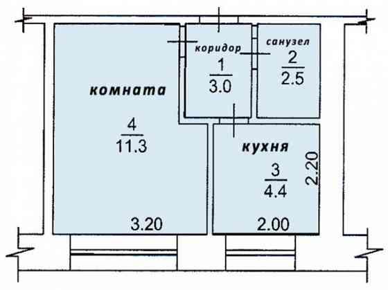 1-комнатная квартира, 22 м², 2/5 эт. Омск